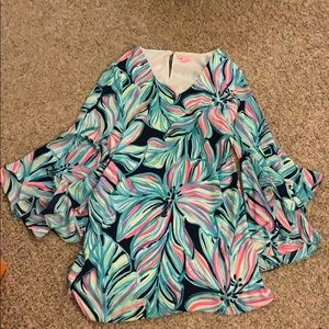 Beautiful Lilly Pulitzer Bell-Sleeve Dress